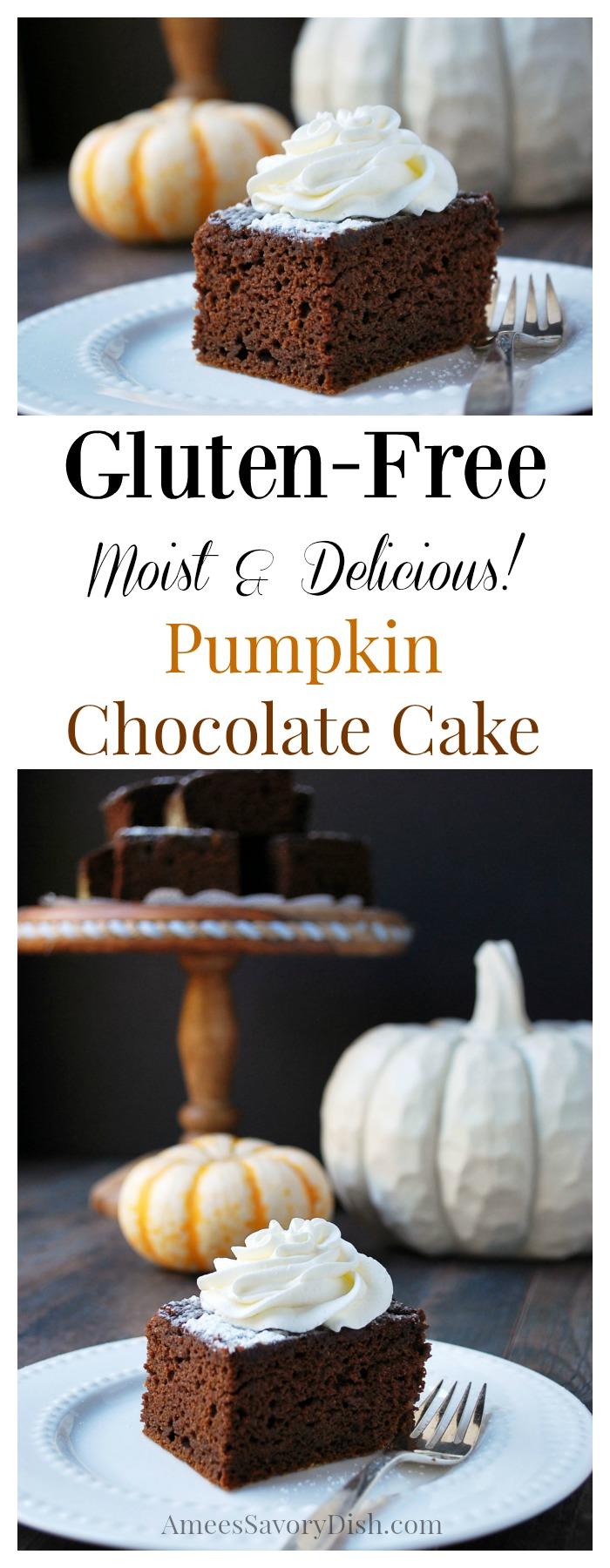 Gluten Free Pumpkin Chocolate Cake