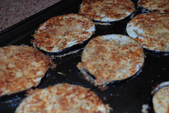 Oven fried eggplant baked