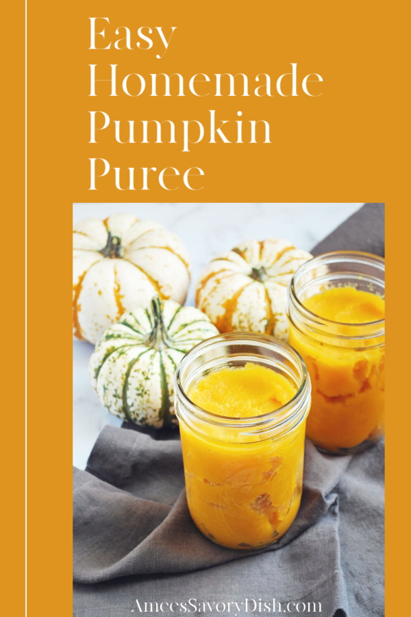 Make homemade pumpkin puree with this easy method of roasting a whole sugar pie pumpkin.  via @Ameessavorydish