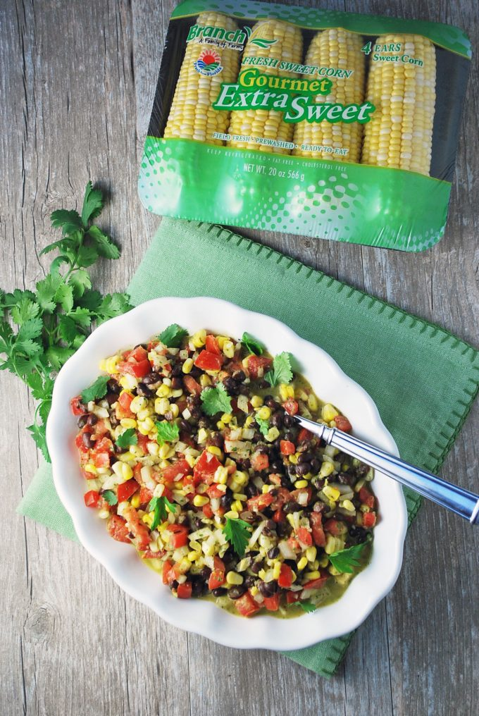 Summertime Black Bean and Corn Mojo Salad