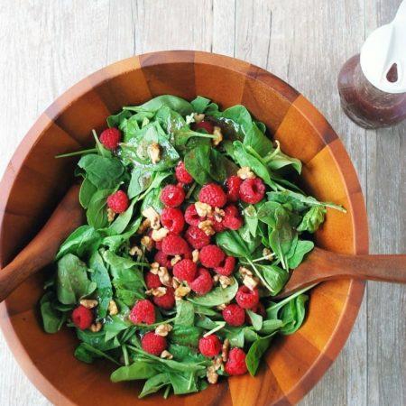 Christmas salad with berries