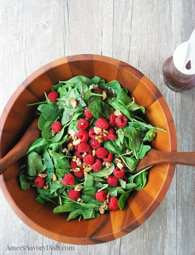 Christmas salad with berries