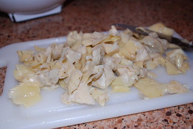 chopped artichokes
