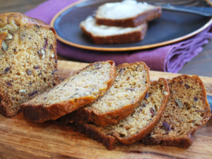 A delicious date nut bread recipe made with Greek yogurt