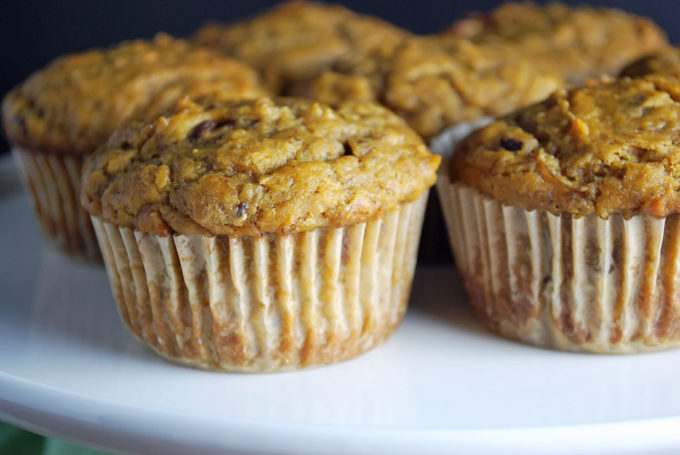 The best eggless banana muffins made with canned pumpkin