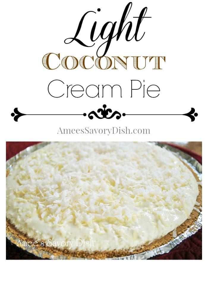 Light Coconut Cream Pie recipe
