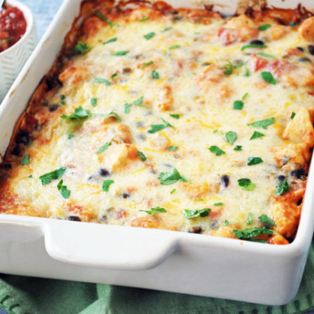 An easy and delicious recipe for Mexican chicken casserole