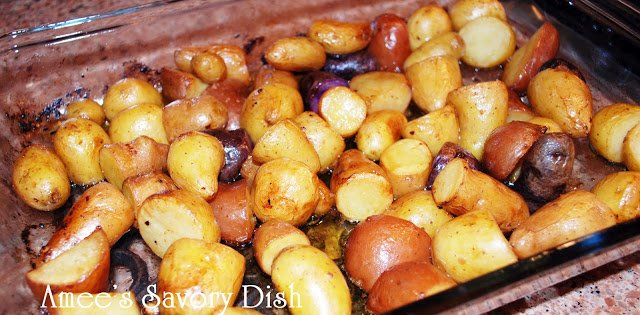 Lemon Garlic Fingerling Potatoes
