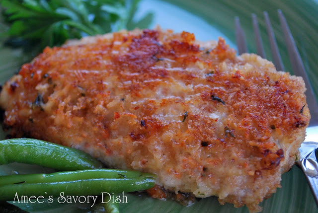 Parmesan Oven-Fried Chicken….a healthier take on the traditional