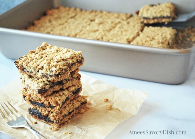 These amazing oatmeal date bars are moist and delicious made with whole oats, flour, dates, butter and fresh orange zest with a gluten-free option.