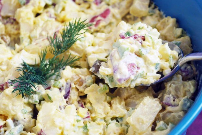 homemade red skin potato salad