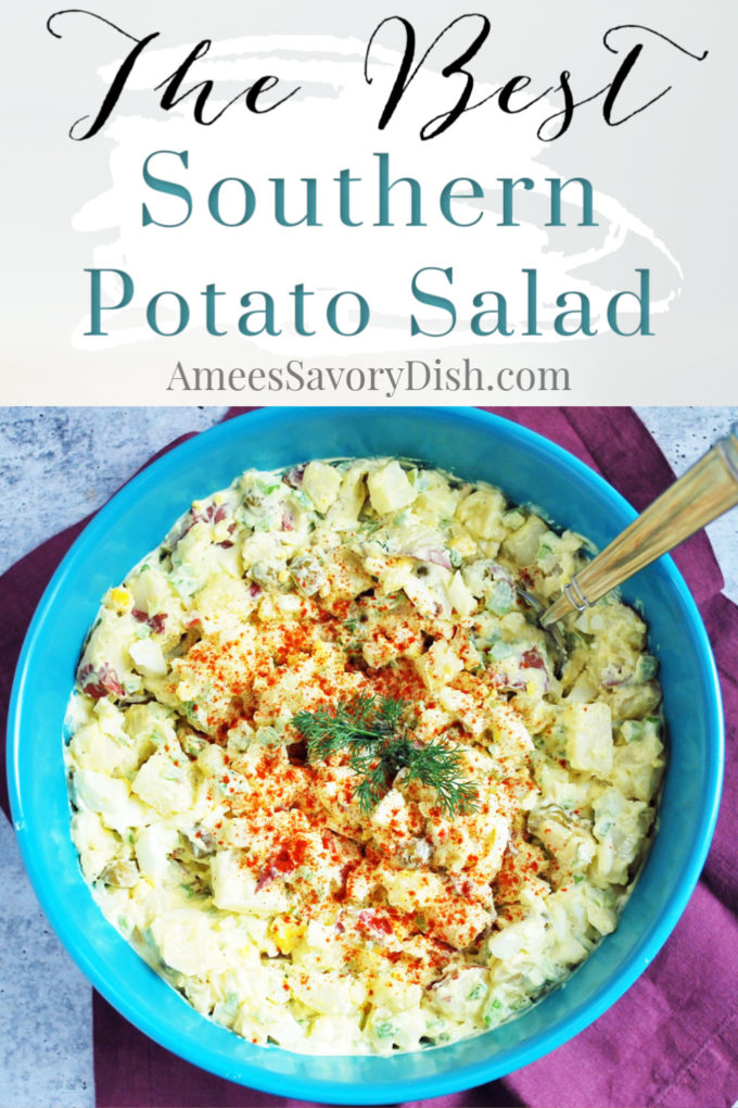 Southern Potato Salad in a bowl