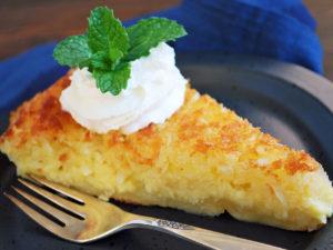 The Best Crustless Coconut Pie