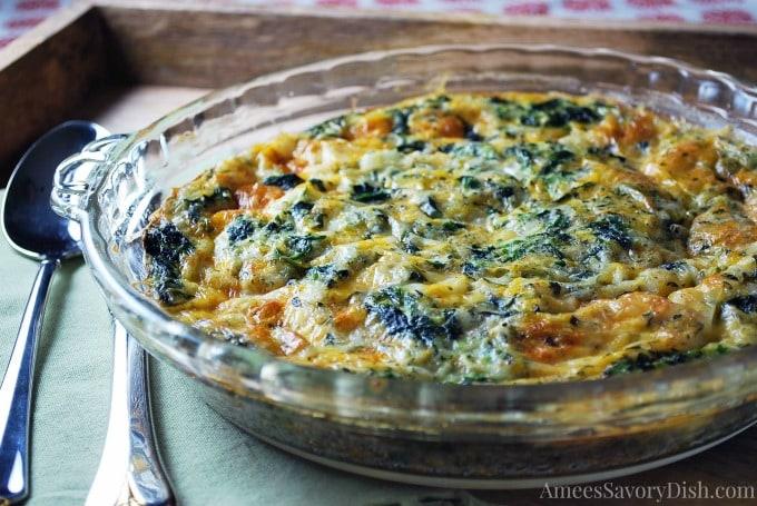 Delicious Crustless Spinach Quiche