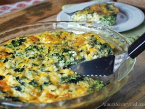 Protein-Packed low carb Crustless Spinach Quiche makes a healthy and easy meal