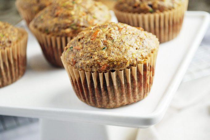 platter of zucchini bran muffins