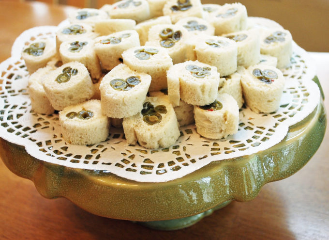 Tasty green bean roll ups made with marinated green beans