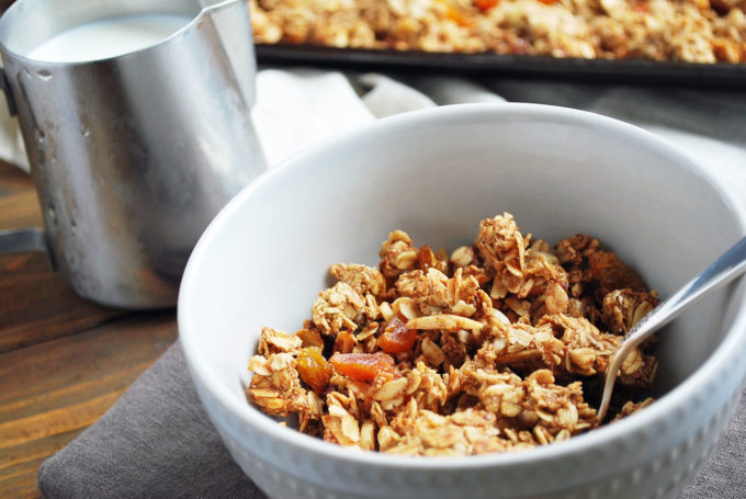 Easy homemade granola makes a great snack or breakfast meal