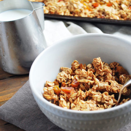 homemade granola in a cereal bowl