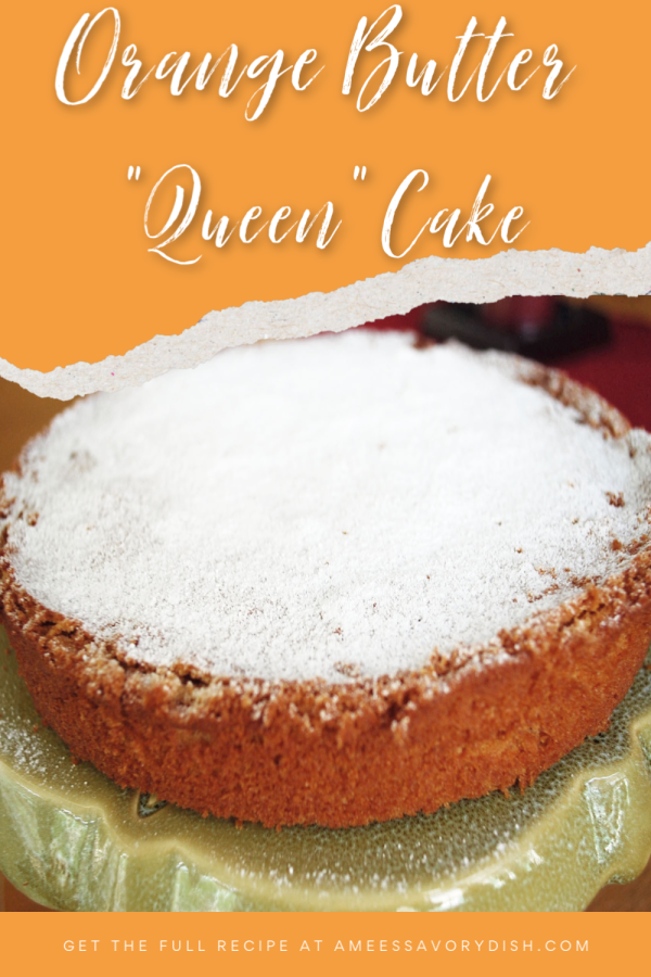 """A simple vintage cake recipe for orange butter cake (aka """"Queen cake) made with flour, butter, coconut oil, cream and orange zest. via @Ameessavorydish"""