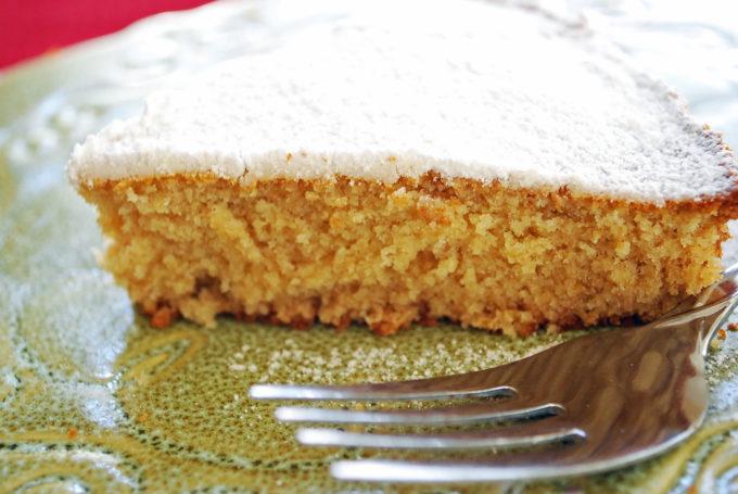 Homemade orange butter cake slice (aka Queen cake)