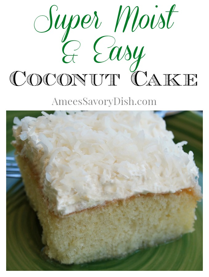 Mimi's Easy Moist Coconut Cake