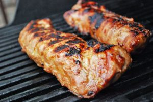 pork tenderloins on the grill