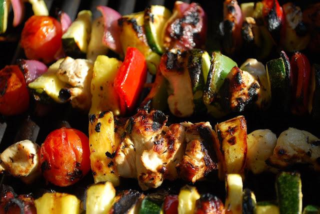 grilled honey chicken kabobs