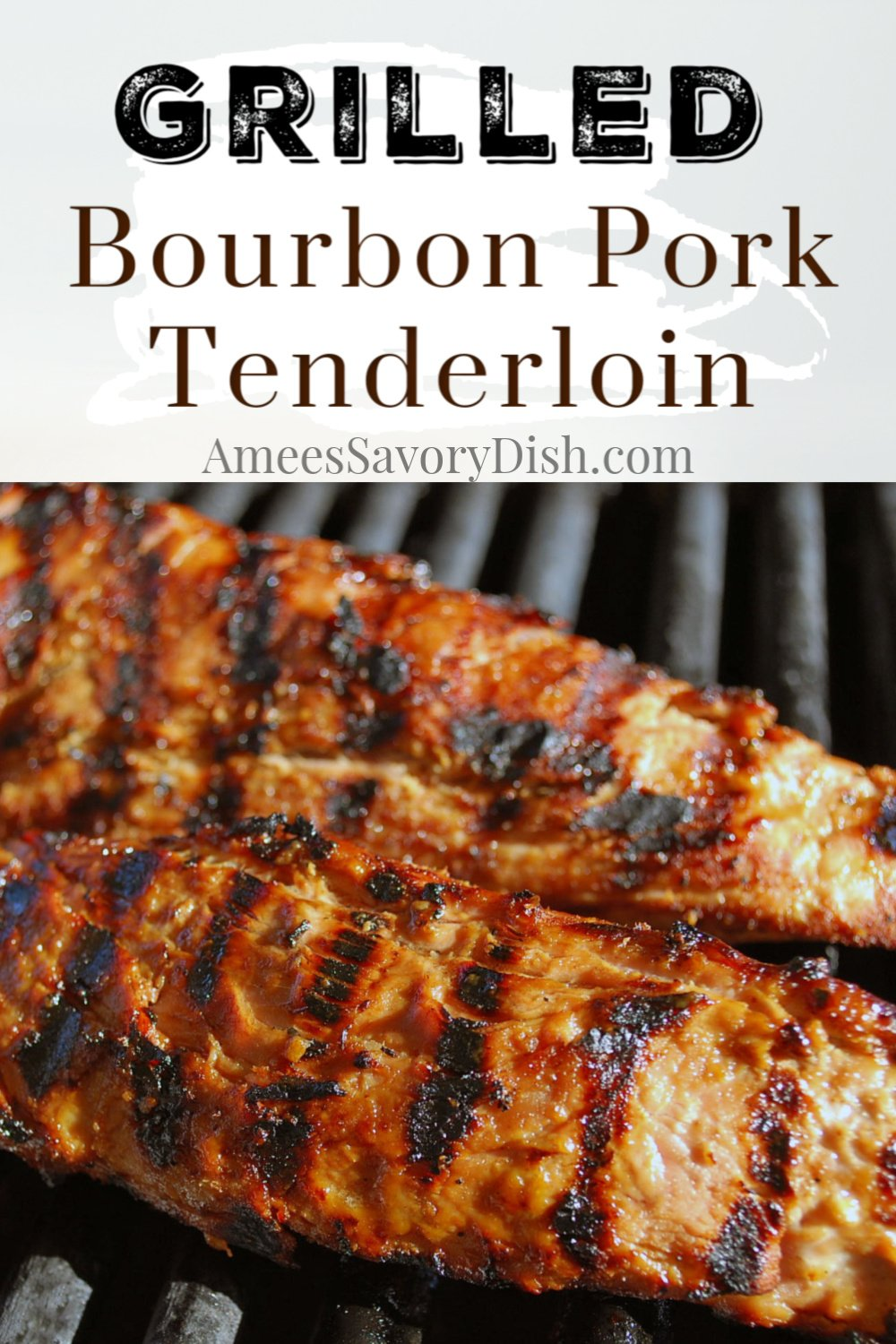 This grilled bourbon pork tenderloin is flavorful and easy made with Kentucky bourbon, soy sauce, brown sugar, garlic, dijon mustard, and spices. This easy grill recipe is packed with protein and perfect for meal prep! #porktenderloin #grilledporktenderloin #bourbonpork #porkrecipe via @Ameecooks