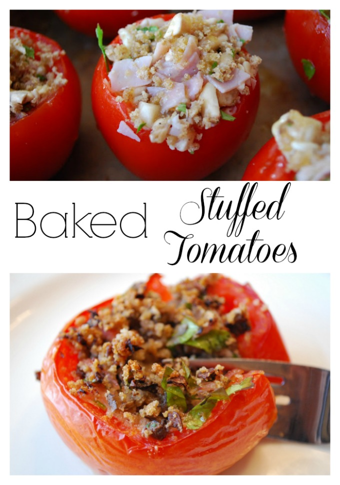 Baked Stuffed Tomatoes photo collage