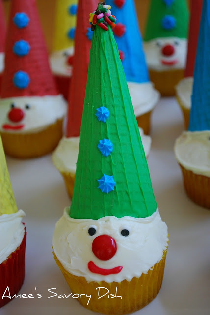 carnival clown cupcakes