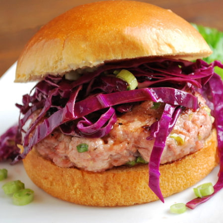 Asian-style pork burger
