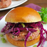 Asian style pork burger