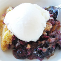 A lightened-up recipe for Easy Blackberry Cobbler that's perfect for your summertime gathering. Don't forget the ice cream!