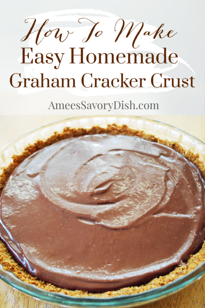 Learn how to make an easy homemade graham cracker crust recipe without hydrogenated fats and only a few simple ingredients.