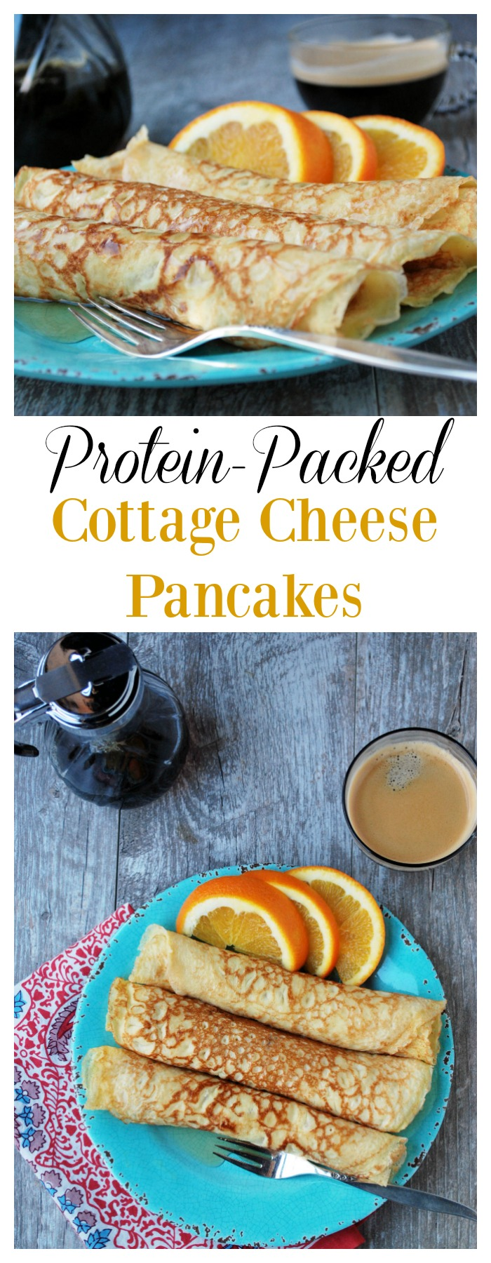 Protein Packed Cottage Cheese Pancakes recipe #cleaneatingpancakes #healthybreakfast #proteinpancakes #pancakes via @Ameessavorydish