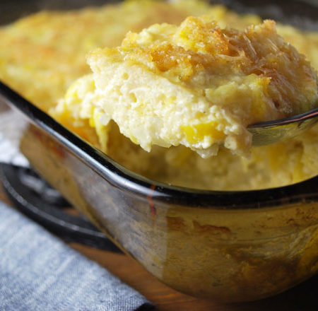 spoonful of squash cauliflower casserole