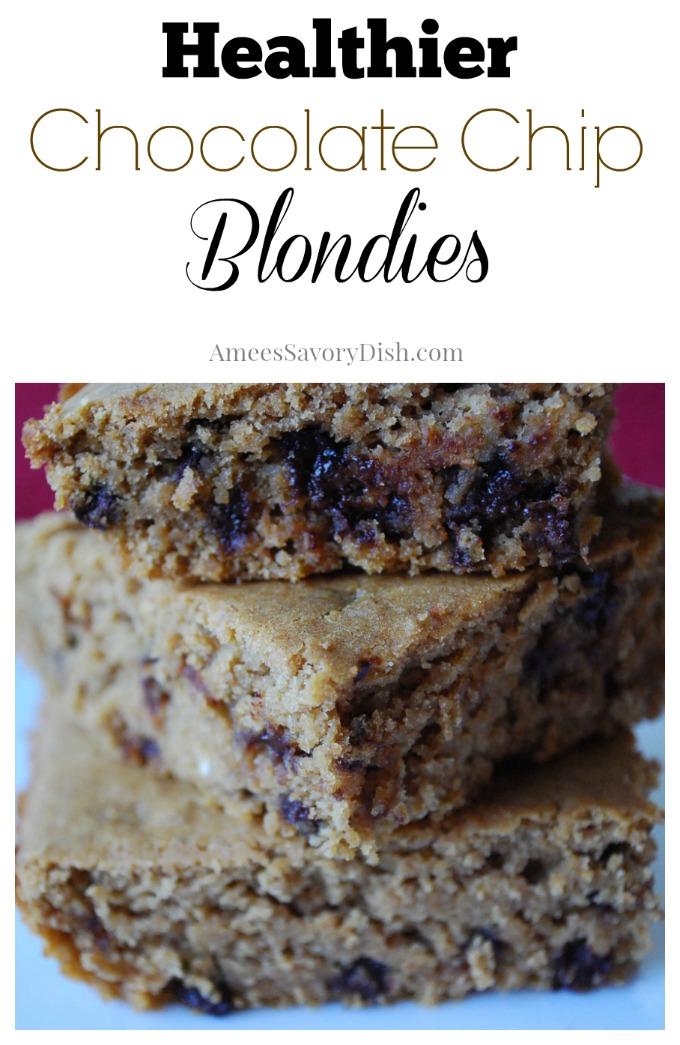 Healthier Chocolate Chip Blondies