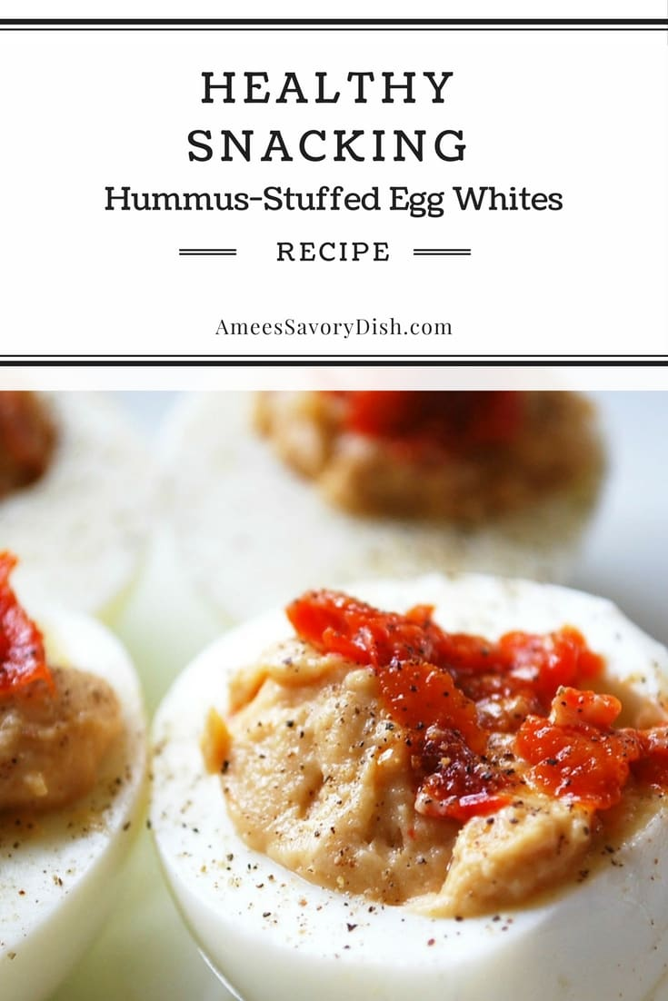 Hummus Stuffed Egg Whites For Healthy Snacking