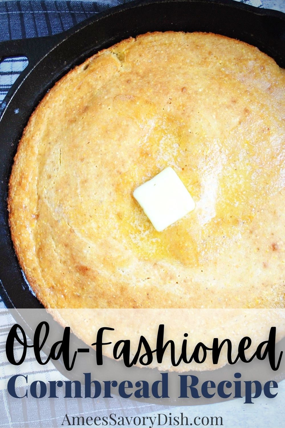 This deliciously easy vintage old fashioned cornbread recipe uses only a few simple ingredients, including buttermilk, whole grain flour, butter and egg. It's a classic must-try recipe! via @Ameessavorydish