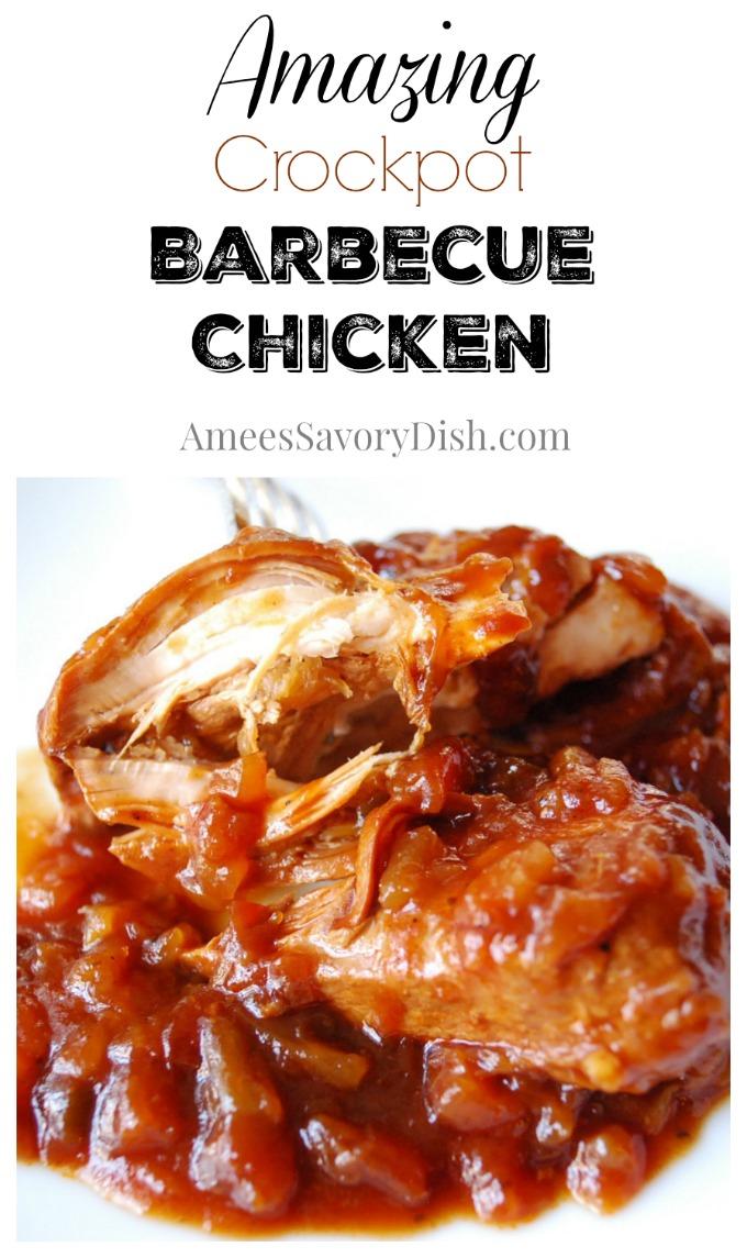 Amazing Crockpot Barbecue Chicken