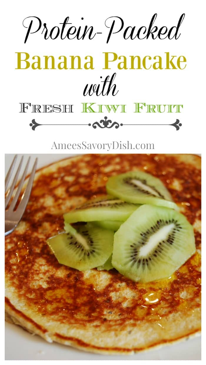Banana Pancake with Fresh Kiwi