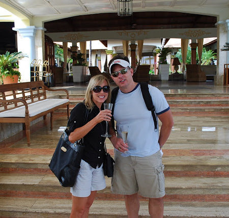 Amee and husband at a hotel in Punta Cana
