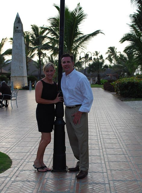 Amee and husband before going to dinner in Punta Cana