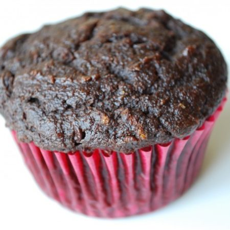 High Fiber Double Chocolate Muffins
