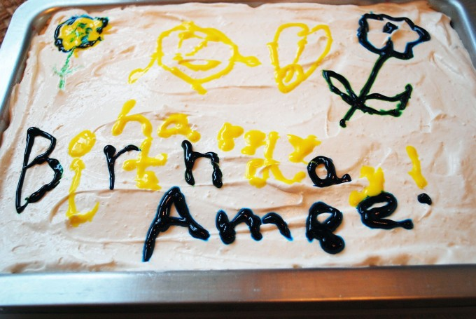 Lauren decorated cake