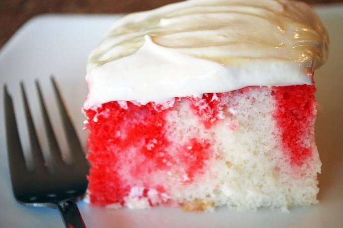 Strawberry Cream Cake- Low Fat, Low Sugar
