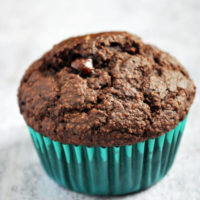 gluten-free double chocolate bran muffin