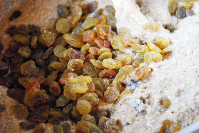 batter for orange oat bran flax muffins