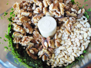 Tips on how to make delicious homemade pesto made with fresh sweet basil, pine nuts, garlic and extra virgin olive oil.
